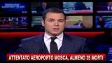 Attentato aeroporto Mosca, almeno 35 morti