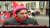 28/01/2011 - Sciopero FIOM, gli operai: paura di un ricatto dalla FIAT