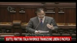 03/02/2011 - Egitto, Frattini: l'Italia favorisce la transizione libera e pacifica