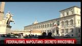 05/02/2011 - Federalismo, Napolitano invita a cercare una coesione maggiore