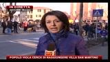 Il popolo Viola cerca di raggiungere Villa San Martino