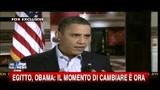 Egitto, Obama: il momento di cambiare è ora