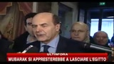 Bersani: ambasciatori in lacrime per colpa di Berlusconi