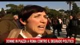 Donne in Piazza a Roma contro il degrado politico