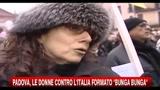 Padova, le donne contro l'italia formato Bunga Bunga