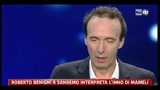 18/02/2011 - Roberto Benigni a Sanremo interpreta l'Inno di Mameli