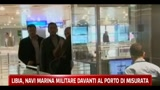 Libia, navi marina militare davanti al porto di Misurata