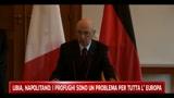 24/02/2011 - Libia, Napolitano: i profughi sono un problema per tutta l'Europa