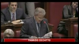 25/02/2011 - Votazioni Milleproroghe, gli interventi di Cicchitto, Reguzzoni e Letta
