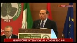 Berlusconi interviene al Congresso Pri