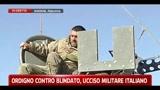 Ordigno contro blindato, ucciso un militare italiano
