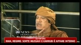 01/03/2011 - Libia, Gheddafi: non ci sono rivolte, tutto il mio popolo  con me