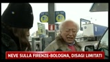 Neve sulla Firenze-Bologna, disagi limitati