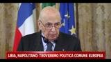 Libia, Napolitano: troveremo una politica comune europea