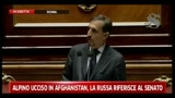 Alpino ucciso in Afghanistan, La Russa riferisce al Senato