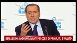Berlusconi: andiamo avanti più coesi di prima, FLI è fallito