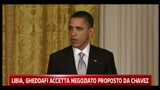 Libia, Obama: basta violenze, Gheddafi deve andarsene