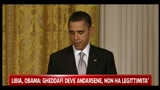 Libia, Obama: Gheddafi deve andarsene, non ha legittimit