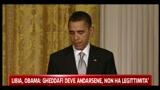 Libia, Obama: Gheddafi deve andarsene, non ha legittimità