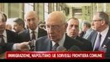 Immigrazione, Napolitano:l'UE sorvegli la frontiera comune