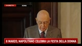 8 marzo, Napolitano celebra la Festa della donna