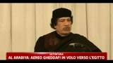 Aereo di Gheddafi in volo verso l'Egitto