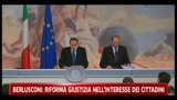 Berlusconi: riforma giustizia nell'interesse dei cittadini