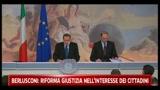 Berlusconi: riforma giustizia nell'interesse dei cittadini