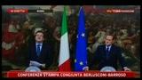 Conferenza congiunta Berlusconi-Barroso