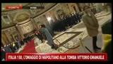 17/03/2011 - Italia 150, l'omaggio di Napolitano alla tomba Vittorio Emanuele