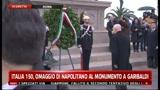 17/03/2011 - Italia 150, omaggio di Napolitano al monumento a Garibaldi