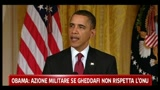Obama: azione militare se Gheddafi non rispetta l'ONU