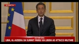 Vertice su Libia, la conferenza stampa di Sarkozy