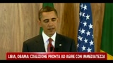 19/03/2011 - Libia, Obama: coalizione pronta ad agire con immediatezza