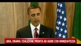 Libia, Obama: coalizione pronta ad agire con immediatezza