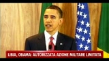 Libia, Obama: autorizzata azione militare limitata