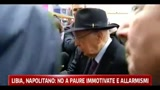 20/03/2011 - Libia, Napolitano: No a paure immotivate e allarmismi