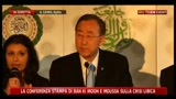 La conferenza stampa di Ban Ki Moon e Moussa sulla crisi libica
