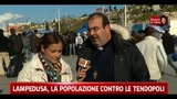 21/03/2011 - Lampedusa, la popolazione contro le tendopoli