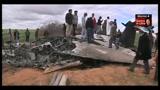 Le immagini dell'aereo americano caduto