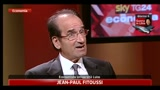 L'economista Fitoussi ospite a SkyTG24 economia