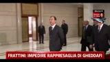 Frattini, impedire rappresaglia di Gheddafi