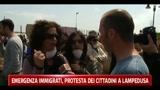 Emergenza immigrati, protesta dei cittadini a Lampedusa