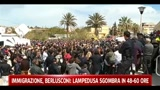 30/03/2011 - Immigrazione, Berlusconi: Lampedusa sgombra in 48-60 ore