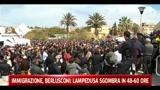 30/03/2011 - Immigrazione, Berlusconi: Lampedusa sgombra in 48-60 ore