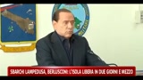 Sbarchi Lampedusa, Berlusconi: L' isola libera in due giorni e mezzo