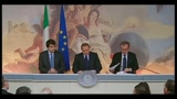 Conferenza stampa Palazzo Chigi