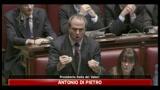 Antonio Di Pietro, mondo brucia e noi parliamo del Premier