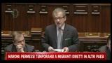 07/04/2011 - Maroni: permessi temporanei ai migranti diretti in altri paesi