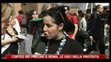 Corteo dei precari a Roma, le voci della protesta